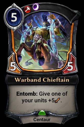 Warband Chieftain card