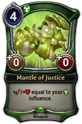 Mantle of Justice card
