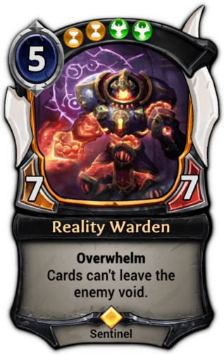 Reality Warden card