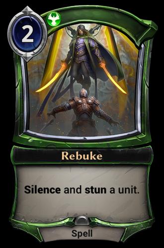 Rebuke card