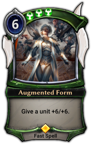 Augmented Form card