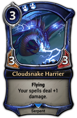 Alternate-art Cloudsnake Harrier card