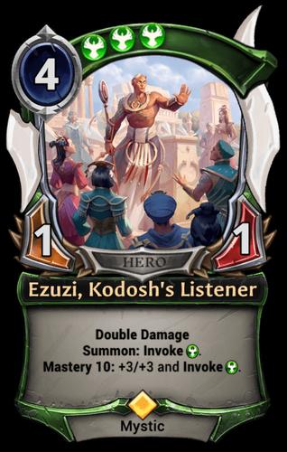 Ezuzi, Kodosh's Listener card
