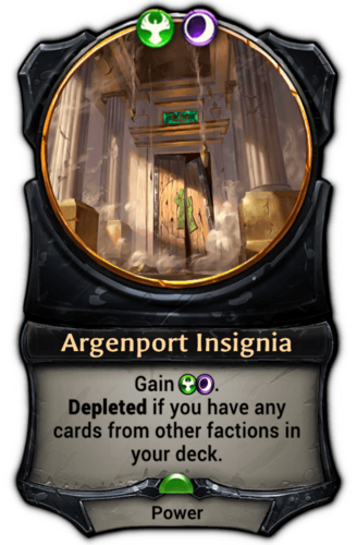 Argenport Insignia card