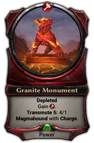 Granite Monument card