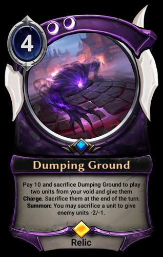 Dumping Ground card
