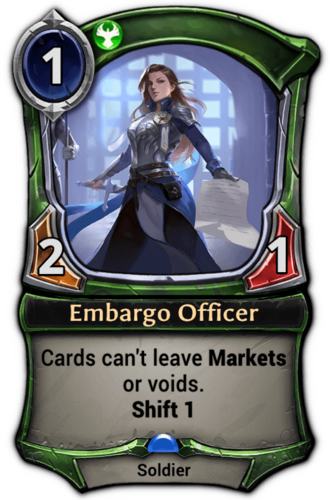 Embargo Officer card