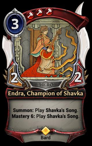 Endra, Champion of Shavka card