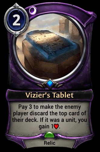 Vizier's Tablet card
