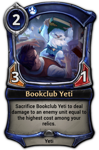 Bookclub Yeti card