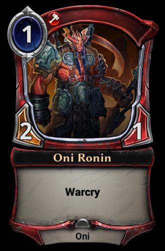 Oni Ronin card