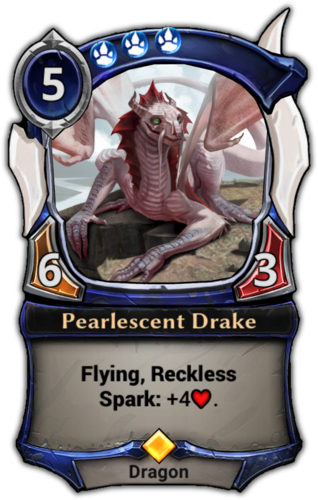 Pearlescent Drake card
