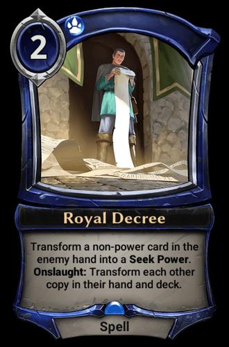 Royal Decree card
