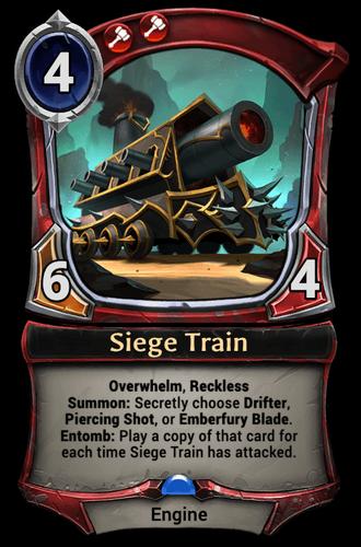 Siege Train card