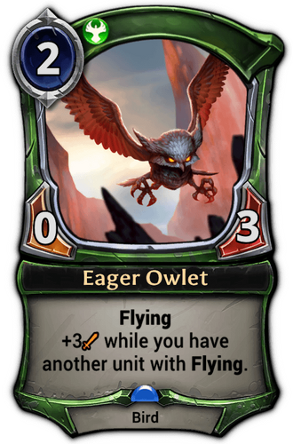 Eager Owlet card