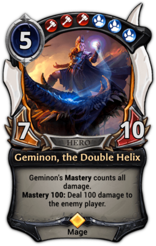 Geminon, the Double Helix card