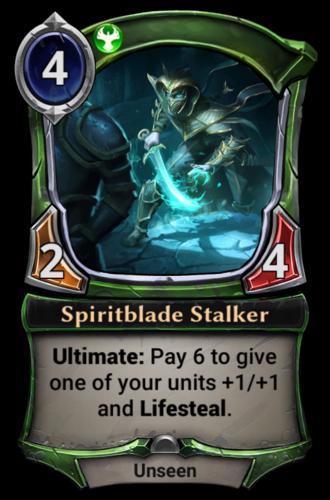 Spiritblade Stalker card