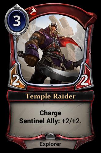 Temple Raider card