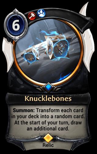 Knucklebones card