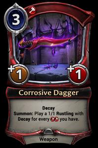 Corrosive Dagger
