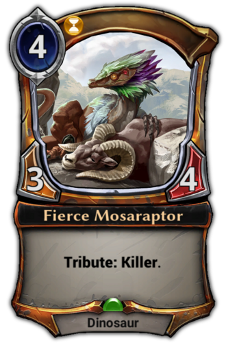 Fierce Mosaraptor card