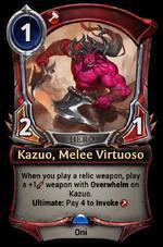 Kazuo, Melee Virtuoso