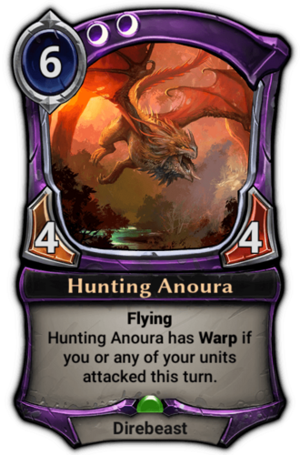 Hunting Anoura card