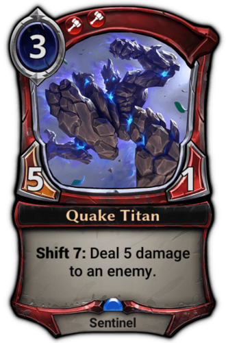 Quake Titan card