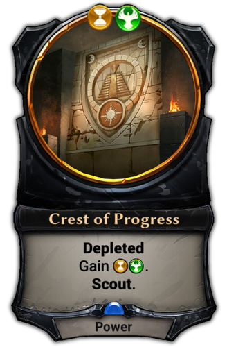 Crest of Progress card
