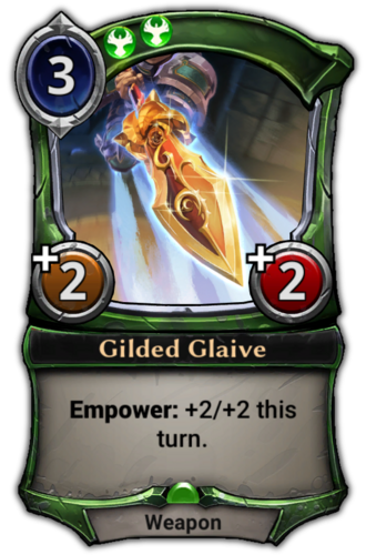 Gilded Glaive card