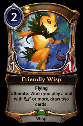 Friendly Wisp card