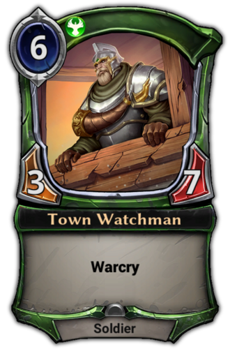 Town Watchman card