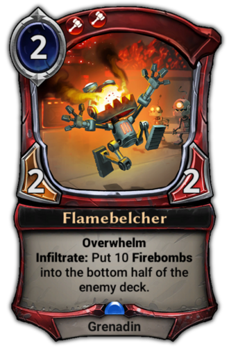 Flamebelcher card
