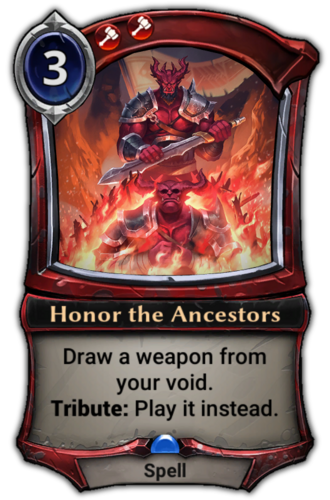 Honor the Ancestors card