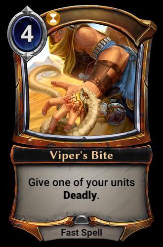 Viper's Bite card