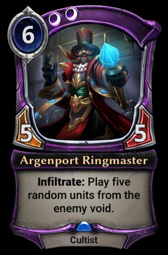 Argenport Ringmaster card