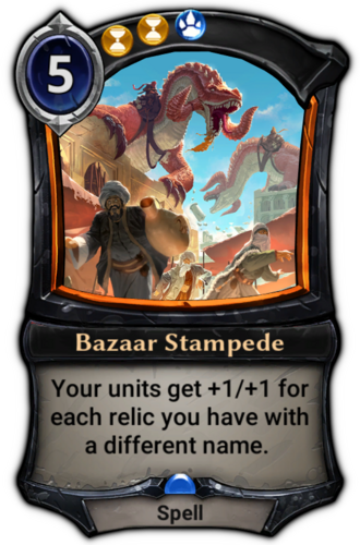 Bazaar Stampede card