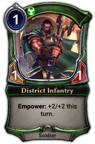 District Infantry card