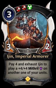 Ijin, Imperial Armorer