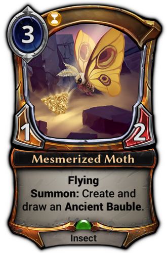 Mesmerized Moth card