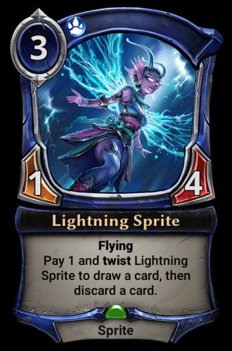 Lightning Sprite card