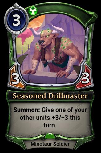 Seasoned Drillmaster card
