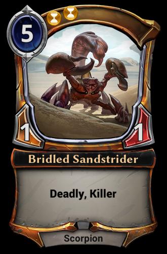 Bridled Sandstrider card