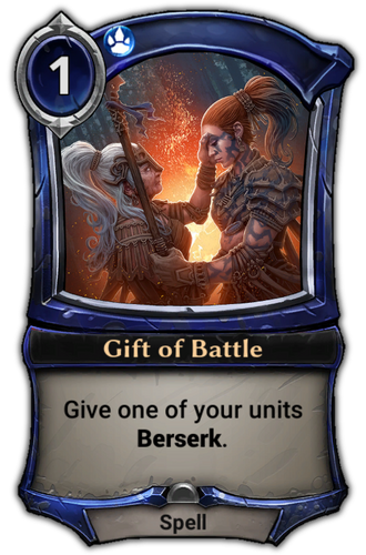 Gift of Battle card