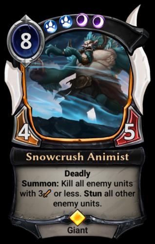 Snowcrush Animist card