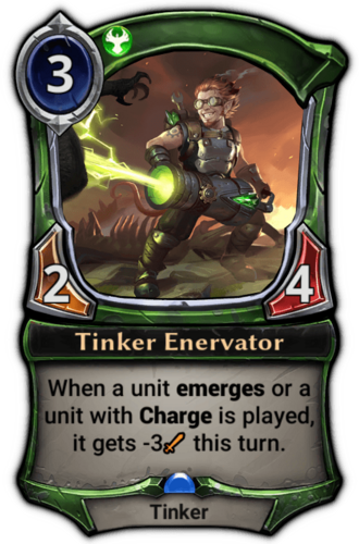 Tinker Enervator card