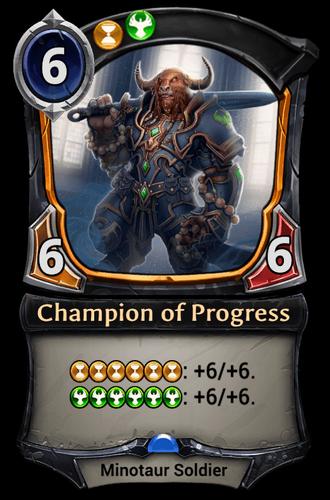 Champion of Progress card