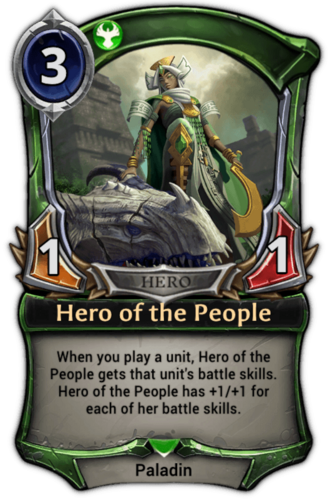 Alternate-art Hero of the People card