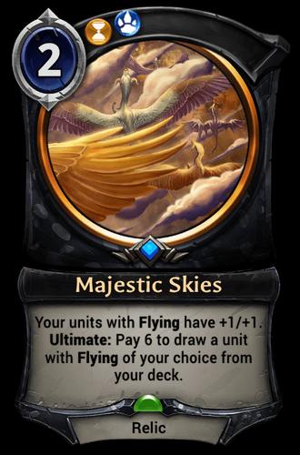 Majestic Skies card