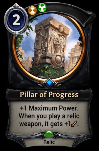 Pillar of Progress card